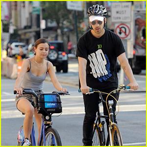 Joe Jonas Goes Biking With Model Eileen Kelly