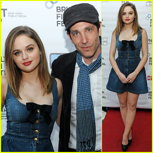 Joey King Rocks a Denim Dress at 'Borealis' NYC Screening