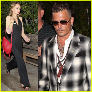Johnny Depp Has Family Dinner With Daughter Lily-Rose