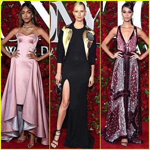 Models Jourdan Dunn, Karolina Kurkova, & Joan Smalls Attend the Tony Awards 2016