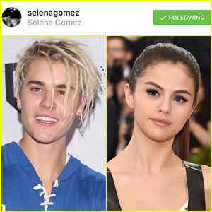 Justin Bieber Follows Selena Gomez on Instagram