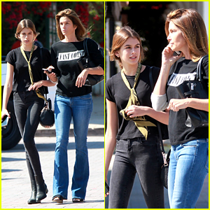 Cindy Crawford Matches With Daughter Kaia Gerber