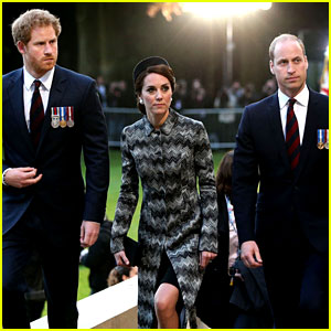 Kate Middleton & Prince William Commemorate WWI Battle with Prince Harry