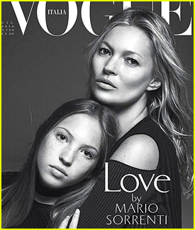 Kate Moss & Daughter Lila Grace Cover 'Vogue Italia' Together