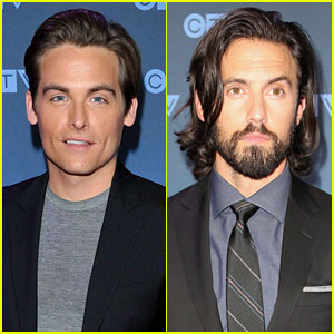 Kevin Zegers & Milo Ventimiglia Suit Up for CTV Upfronts!