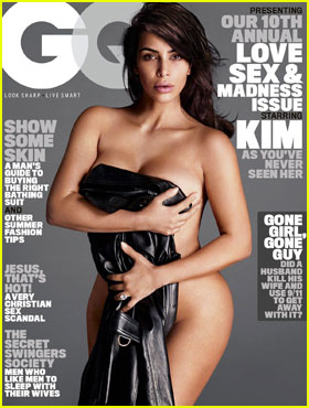 Kim Kardashian Strips Down for First-Ever 'GQ' Cover