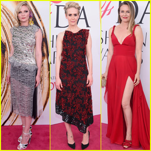 Kirsten Dunst Sparkles on the Red Carpet at CFDA 2016