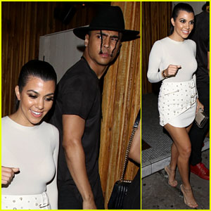 Kourtney Kardashian Seen Hanging with Diddy's Son Quincy 2 Nights in a Row!