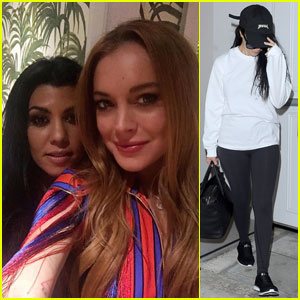 Kourtney Kardashian Tries on Lindsay Lohan's Fringe Dress