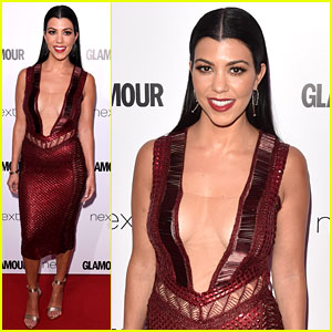 Kourtney Kardashian Wears Daring Dress at Glamour Women of the Year Awards 2016