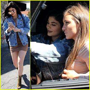 Kylie Jenner Opens Her Car Door to Let a Fan Take a Selfie