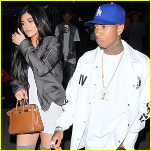 Kylie Jenner & Tyga Couple Up at Kanye West Show in LA