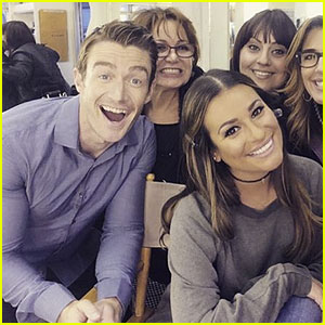 Lea Michele & Boyfriend Robert Buckley Share Cute 'Dimension 404' Set Photos!
