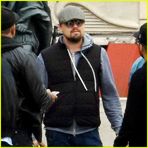 Leonardo DiCaprio Braves Flooded Paris Streets for Day Out