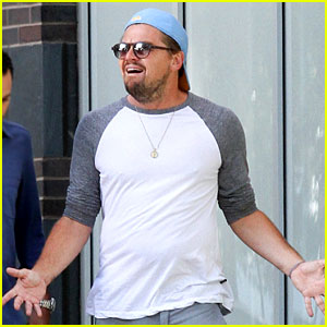 Leonardo DiCaprio Gets Animated on Afternoon Outing with Pals