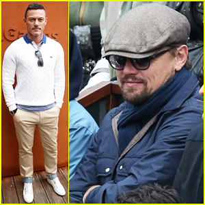 Leonardo DiCaprio & Luke Evans Hit Up French Open!