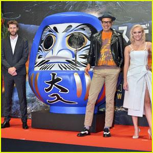 Liam Hemsworth & Maika Monroe Premiere 'Independence Day: Resurgence' in Tokyo