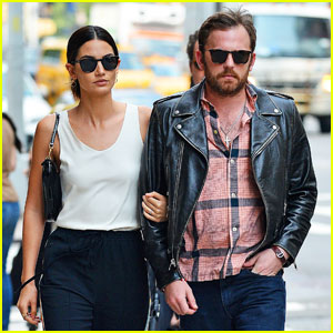 Lily Aldridge Walks Arm-in-Arm With Caleb Followill in NYC