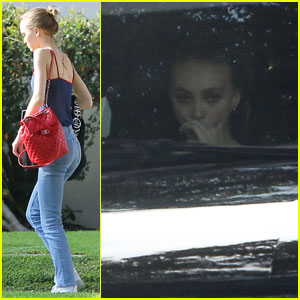Lily-Rose Depp Steps Out After Defending Dad Johnny Depp