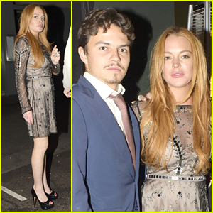 Lindsay Lohan & Fiance Egor Tarabasov Couple Up for Birthday Bash