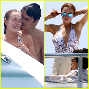 Lindsay Lohan & Fiance Egor Tarabasov Have Fun in the Sun