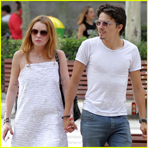 Lindsay Lohan Gets Lunch in Spain with Fiance Egor Tarabasov