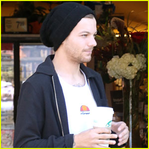 Louis Tomlinson Picks Up Coffee Before Celebrating First Father's Day