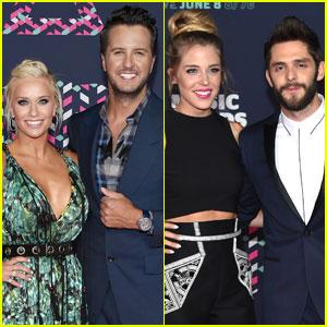 Luke Bryan & Thomas Rhett Bring Wives to CMT Awards 2016