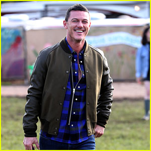 Luke Evans Gets an Early Start to Glastonbury Weekend