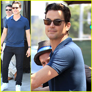 Matt Bomer Runs Into His International Fan Club at Lunch