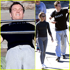 Michael Fassbender & Alicia Vikander Work On Their Fitness Together!