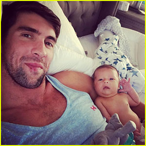 Michael Phelps Shares Cute New Photos of Baby Boomer!