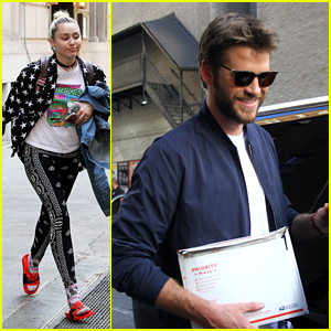 Miley Cyrus & Liam Hemsworth Have Busy Days in NYC