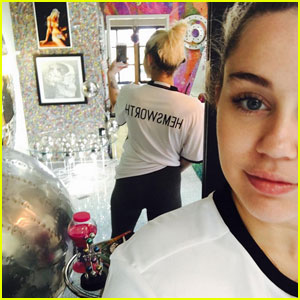 Miley Cyrus Sports a 'Hemsworth' T-Shirt in New Photo!