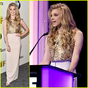 Natalie Dormer Accepts Face of Future Award at Women in Film Event