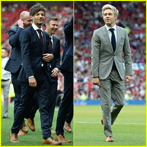 Niall Horan & Louis Tomlinson Suit Up for Soccer Aid 2016 Game