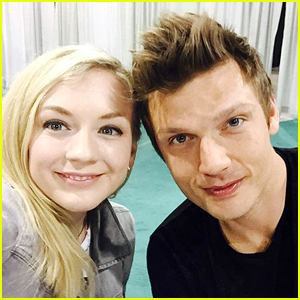 Nick Carter & Emily Kinney Excitedly Meet Each Other!