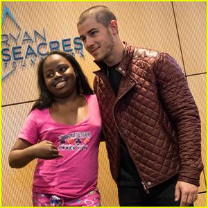 Nick Jonas Visits Patients at Children's Hospital of Orange County