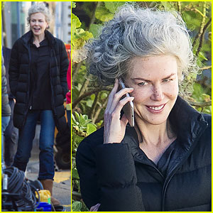 Nicole Kidman Pictured in Gray Wig on 'Top of the Lake' Set!