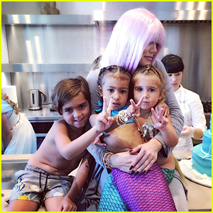 North West & Penelope Disick Celebrate Birthdays With Adorable Princess Mermaid Party