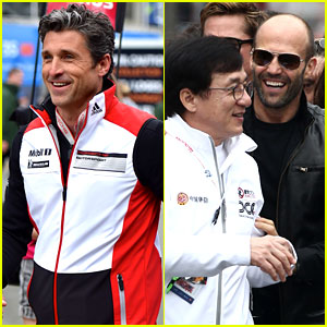 Patrick Dempsey & Jason Statham Cheer on Racers at Le Mans