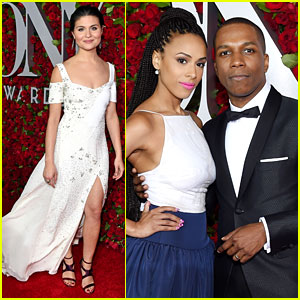 Hamilton's Phillipa Soo & Leslie Odom Jr. Walk Tony Awards 2016 Red Carpet
