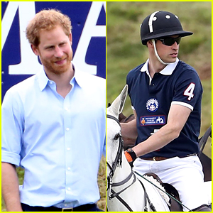 Prince Harry Cheers On Prince William at Charity Polo Match