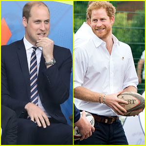 Prince William Attends Soccer Match as Prince Harry Plays Rugby!