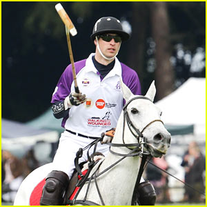 Prince William Participates in Charity Polo Match