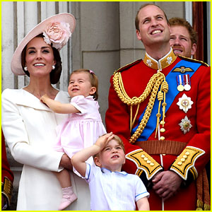 Princess Charlotte & Prince George Join Will & Kate for Trooping the Colour Ceremony