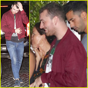 Sam Smith Laughs It Up With Friends