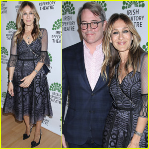 Sarah Jessica Parker Supports Matthew Broderick at 'Shining City' Opening