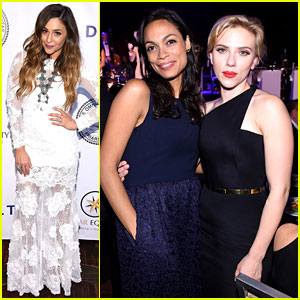 Scarlett Johansson & Rosario Dawson Pay Tribute to Tony Bennett at Friars Club Event!