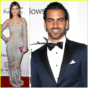 Victoria Justice & Nyle DiMarco Are Gala Glam for amfAR!